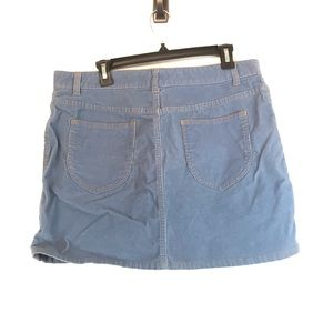 Gap Periwinkle High Waisted Corduroy Skirt